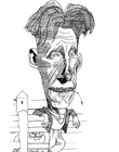 [George Orwell drawing by unknown author]